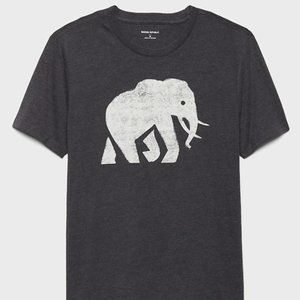 Banana Republic Elephant Graphic Men T-Shirt M